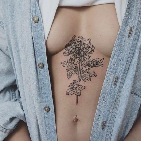 Hình xăm hoa cúc